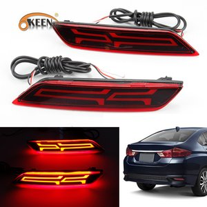 Wholesale 2PCS V LED rear light For Honda city Rear Reflector Fog Light Rear Fog Lamp Turn signal Brake Light