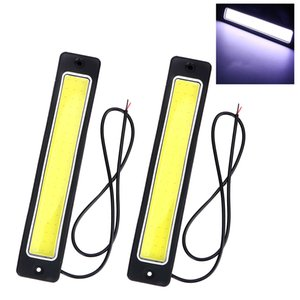 Wholesale 2X LED Car DRL Daytime Running light Waterproof Flexible Bendable COB Day Time Lights Reversing Lamp Car styling