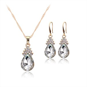 Hot European and American jewelry Crystal Angel Tears alloy environmental protection Silver Necklace