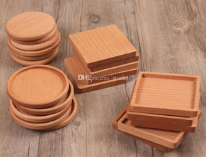 Wholesale Coffee Tea Cup Wood Coaster Pads Insulated Drinking Mats Teapot Table Mats home desk Mats Decoration HH9