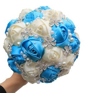 Luxurious Bridal Bouquet 2020 Beautiful Flowers Beaded Crystal For Wedding Bridesmaid Bouquet Artificial Bouquets European Fashion