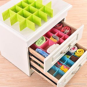 Wholesale Adjustable Drawer Divider Closet Underwear Organizer DIY Plastic Thickening Spacer Grid Keep Socks Scarves Towels Cosmetics Organized