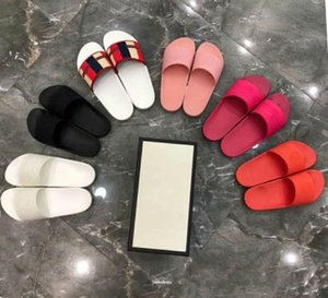 Wholesale 2019 Latest Colorful Rubber Slide Sandals, Beach Flip Flops for Women & Men Pursuit Pool Slides Size 35-44