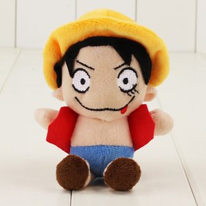 Wholesale 2019 set Kawaii ONE PIECE Monkey D Luffy Plush Toys Soft Pleuche Anime Doll Baby Kids Gift with sucker