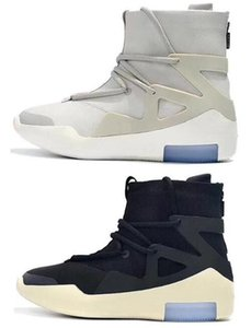 New Fear Of God 1 FOG Boots Light Bone Black Sail Men Basketball Shoes White Grey Black Yellow Sports Sneakers With Box
