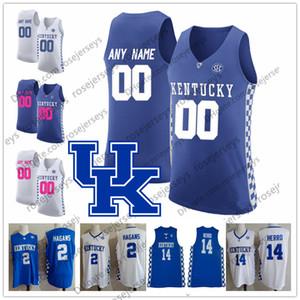 e0e74d562802 Custom Kentucky Wildcats Basketball Jersey 25 PJ Washington Tyler Herro  Keldon Johnson Reid Travis Ashton Hagans