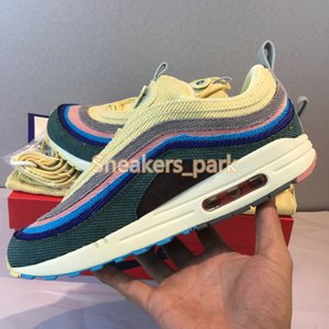 Wholesale new stylist shoes for sale - Group buy New Sean Wotherspoon stylist Sneakers s SW Multi Yellow Blue Hybrid Running Shoes Mens Womens Sport Shoes