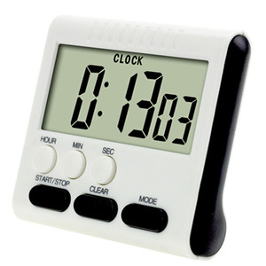 Wholesale 4 Colors Digital Kitchen Timer Count Down Up LED Display baking Timer Mini Cooking Learning Electronic Reminder Without Battery BH2158 CY