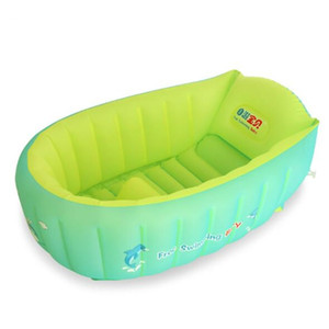 Wholesale swim trainer pool resale online - Inflatable baby bath tub Folding tub swimming pool non toxic Baby bath summer fun Water park Safety Swim trainer Pool
