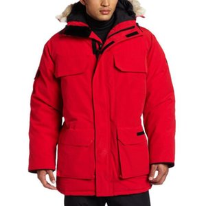 Luxury Canada Winter Jacket Mens Designer Down Parka Outerwear Big Fur Hooded Canada Down Jacket Coat Size XS-XXL on Sale