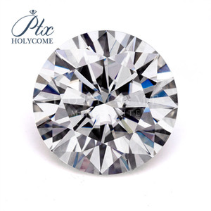 Whole direct selling high quality stone jewelry large size white 12.5mm round cut loose moissanite diamond