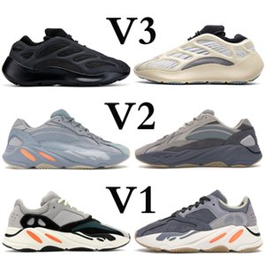 Wholesale new stylist shoes for sale - Group buy New V3 Kanye Runner Azeal Glow In The Dark Alvah Reflective stylist Shoes Magnet Solid Grey Inertia Black Analog Running Sneaker