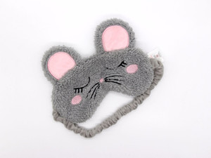 Wholesale cute travel accessories resale online - Mouse Sleep Masks Adults Cartoon Plush Cute Rest Eye Mask Shade Cover Travel Lunch break Relax Accessories