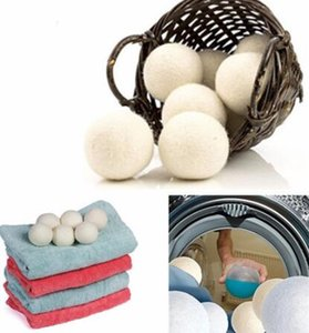 Wholesale Wool Dryer Balls Premium Reusable Natural Fabric Softener inch Static Reduces Helps Dry Clothes in Laundry Quicker