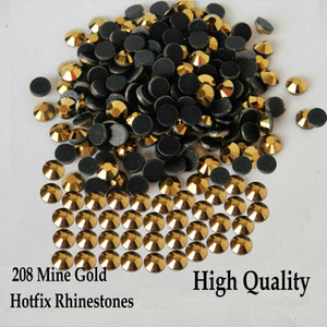 Wholesale gold mining for sale - Group buy Heat Transfer Mine Gold Hot fix Strass Flatback Hotfix Rhinestones For SS6 SS10 SS16 SS20 SS30