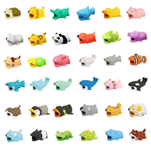 Wholesale Phone Cable Protector For iphone Charger Cable Bite Cute Animal USB Charger Data Protection Cover Mini Wire Cord Phone Accessories Creative