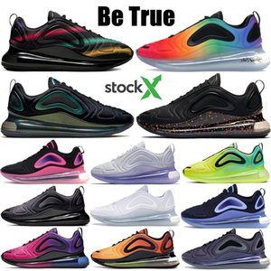 Be True 2019 720 running shoes Hot lava triple white volt black sunrise sunset throwback future womens mens designer shoes US 5.5-11