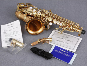 Wholesale gold sax for sale - Group buy Yanagisawa SC Musical B Flat Curved Soprano Saxophone Lacquer gold Instrument Sax With Mouthpiece DHL
