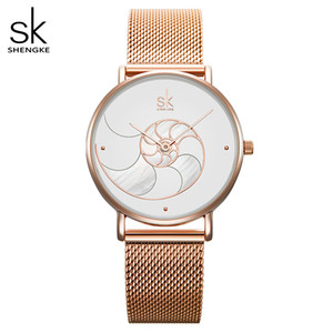 Wholesale wife christmas gift resale online - Shengke Women Fashion Quartz Watch Lady Mesh Watchband High Quality Casual Waterproof Wristwatch Gift for Wife