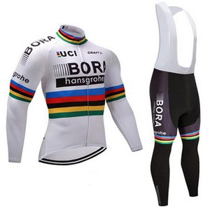 Cool 2018 BORA Winter Thermal Fleece Long Sleeves Cycling Jersey Set Clothing Bike Clothes Wear MTB Bicycle Maillot Ropa Ciclismo