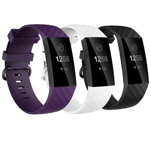 Baaletc Watch Wrist Straps For Fitbit Charge 3 TPU Replacement Bands Bracelet For Fitbit Charge 3 with 4pcs Pack Accessory