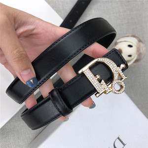 Wholesale Designer belt brand luxury lady belt black coffee belt body letters full diamond smooth buckle high quality hot sale cm wide