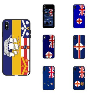 Australia New South Wales Sydney NSW Flag Theme Soft TPU Phone Cases Cover Image Logo For iPhone 6 7 8 S XR X Plus
