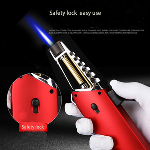 High temperature straight flame Jet Torch Cigarette Lighter Metal windproof flame Butane Gas Refillable adjustable creative design fashion