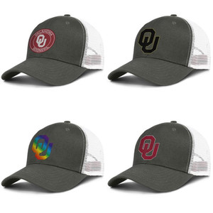 Wholesale Mens Mesh Hat Oklahoma Sooners football old Print logo Women s One Size Ventilation running trucker Hats Round Logo black Gay pride tree