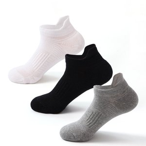 Wholesale professional skateboards resale online - Low Cut Ankle Socks Mens Towel Bottom Free Size EU USA Professional Elite Basketball Skateboard Boat Ship Socks pair pieces