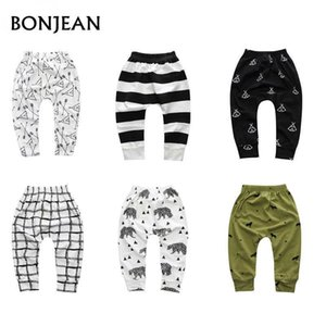 Spring Baby Boys Harem Pants Trousers For Girls Hot Geometric Pattern Print Pants Newborn Toddler Fashionable Variety Of Pants on Sale