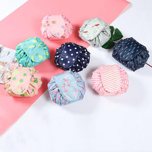 Wholesale Women Drawstring Travel Cosmetic Bag Printed Makeup Bag Organizer Makeup Cosmetic Bag Case Storage Toiletry Pouch Makeup Tools RRA1081