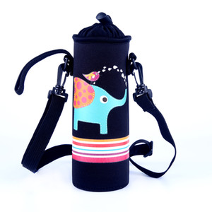 Wholesale neoprene insulated ml ml water bottle holder thermal picnic lunch drinks carrier cool bag with strap cup sleeve for kids