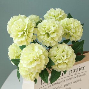 Wholesale 52cm Artificial Flower Heads Bouquet Artificial Hydrangea Fake Flower Wedding Party Christmas Home Decoration Flower Wall DIY