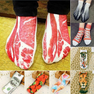 2019 Fashion Unique New Painting Art Men 3D Women Sock Funny Novelty Pork Animal Vintage Retro Cotton Socks Dropshipping