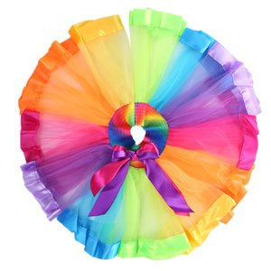 Girl Baby Newborn Toddler Fluffy Tutu Skirt Birthday Photo Prop Outfits Skirts Colorful Elastic Party Skirt