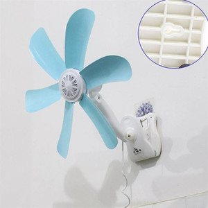 2018 Hot Quiet 5 Leaves Electric Clip Fan Breezer Cooler Stroller Fans Electric Fan Multifunction Wall hanging Table Folder Fan