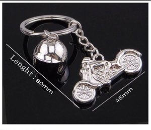 Fashion Charm 3D Motorcycle Helmet Shaped Keychain Key Rings For Men Car Women Bag Key Chain Souvenirs Custom logo Free DHL G660Q A