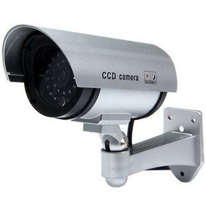 Wholesale blink camera resale online - Multifunctional Dummy CCTV Security CCD IR Camera with Red LED Blinking Light for Indoor Outdoor Surveillance