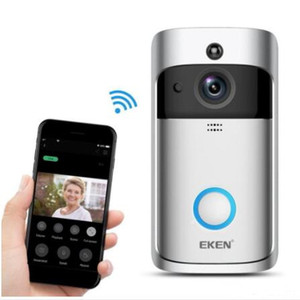 EKEN Smart Wireless Video Doorbell 2 720P HD 166° Wifi Security Camera Real Time Two Way Talk and Video PIR Motion Detection APP Control