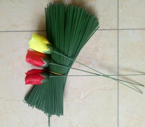 Wholesale wire wedding resale online - Artificial Flower pole Wedding decorations DIY Accessories plastic pole with iron wire pieces bag cm long artificial Rose Stem