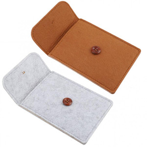 Wholesale Multi funtion Wool Felt Wallet Bag Card Pocket Smart Phone Pouch storage bag