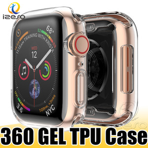 Luxury Clear TPU Watch Case for Apple Watch Series 6 5 4 3 Gel Soft Front Screen Full Covered Watch Cover for iWatch