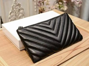 Wholesale New Luxury Ladies Long Clutch Purses Large Capacity PLeather Genuine leather Wallets Phone Pocket Card Purses black pink green