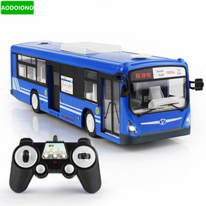Wholesale 2 G Remote Control Bus Car Charging Electric Open Door RC Car Model Toys for Children Gifts