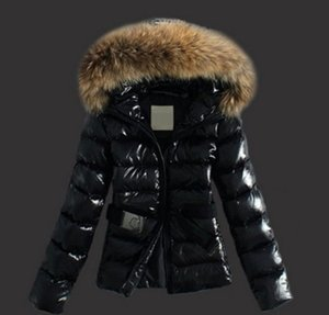 Wholesale Winter French women s fashion short slim belt black and brown down jacket cotton padded winter coat winter coat