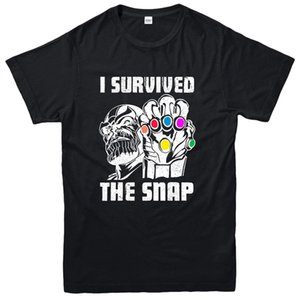 I Survive The Snap T-Shirt, Thanos Marvel Supervillain Inspired Tee Top