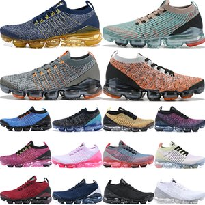 Wholesale Fly navy gold White Black Volt Bright Crimson mens running shoes Barely Volt Pink Tint luxury fashion designer women shoes