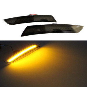 Wholesale For Chevrolet Camaro 2016 2017 LED Front Amber Side Lights Marker smoked lens Turn Signal Lights Led Parking Light Black 1 pair