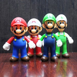 Wholesale 7 Style Super Mario Bros toy New Cartoon game Mario Luigi Yoshi princess Action Figure Gift Toys For Kid B